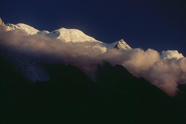 fotografie - Usínající Mont Blanc I