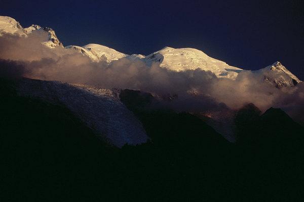 fotografie - Usínající Mont Blanc II