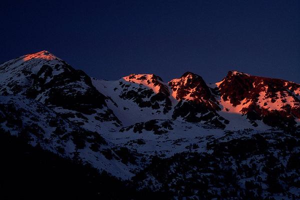 fotografie - Grafika horského večera